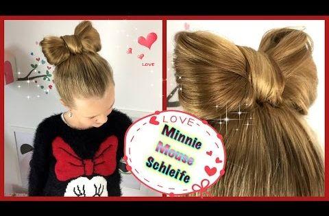 Minnie Mouse Schleife Hochsteckfrisur Schleifendutt Frisur Fur Madchen Schleifendutt Frisur Hochgesteckt Madchen Frisuren