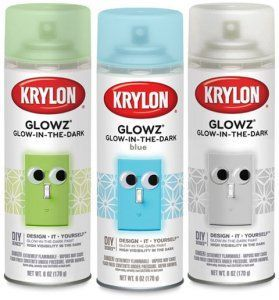 Krylon Glowz Glow In The Dark Paint That Recharges With Exposure To Light I Want To Try A Paint Like This On Smooth Lar Glow Paint Glow In Dark Paint Glow