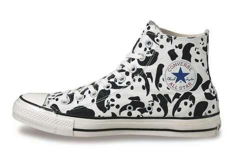 Panda Printed Sneakers | Converse, Chuck taylors, Converse