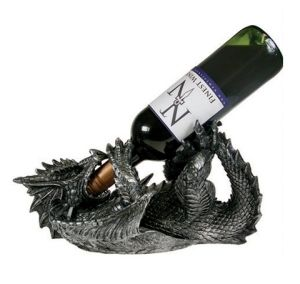 Wine Bottle Holder Winged Dragon Nemesis Now | The
