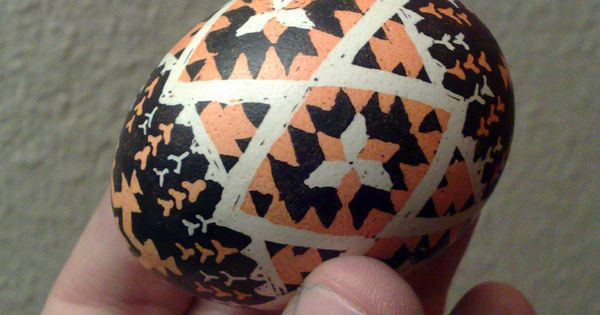 Ukrainian pysanka: folk art Easter eggs... I'm going to do this... I