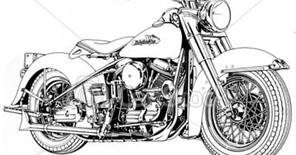 One Line Ascii Art Motorcycle : Stock illustration vintage v twin motorcycle