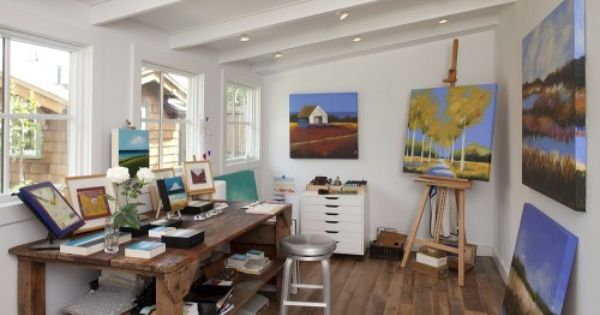 Art Room Design Ideas Pictures Remodel And Decor Artist Home Studio Art Studio At Home Contemporary Home Office