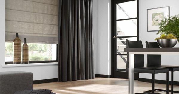 Artelux gordijnen poseidon bruin grijs hout naturel for Bruin grijs interieur