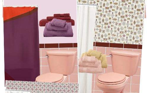 11 ideas to decorate a burgundy and pink bathroom home for Maroon bathroom ideas