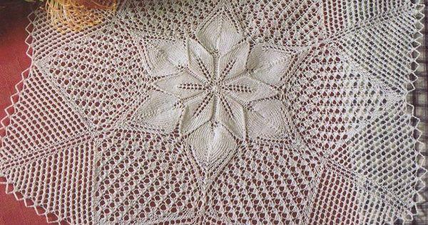 Madeira Lace Knitting Pattern : Knitting Pleteni prti?ki / Knitted doily Pinterest ...