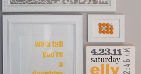 Gray & Yellow Nursery Wall Decor