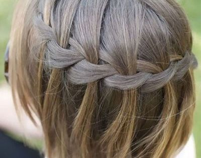 Une coiffure a base de tresse en cascade sur cheveux courts coiffure pinterest coiffures - Tresse en cascade ...