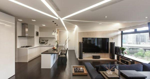 110 Luxus Wohnzimmer im Einklang der Mode Einrichten und Wohnen - wohnzimmer ideen schwarzes sofa