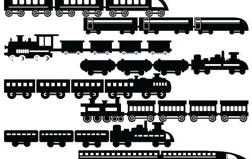 Train Silhouette Vector Silhouettevector Net Transport