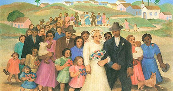 O Casamento 1940 Tarsila Do Amaral Pintura Tarsila Do Amaral