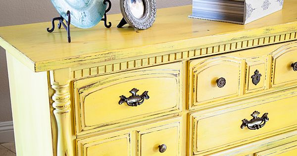 Another Piece Finished With Mark Twain Yellow From Lowes Just Add Bb Fr Sch Chalk Paint