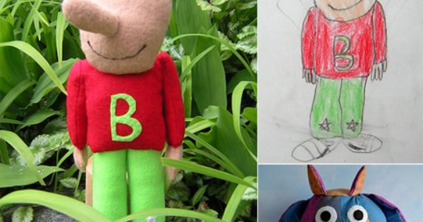 You can take your kid's artwork and turn it into a stuffed