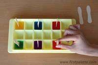 Pintura Com Cubos De Gelo Coloridos Cubos De Gelo Coloridos