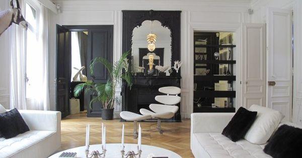 porte peinte en noire salon pinterest