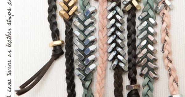 Hex nut braided bracelets