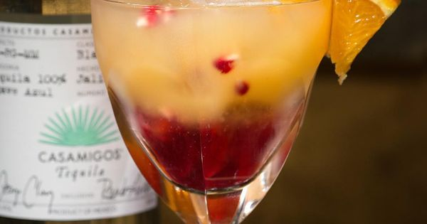 SUNRISE 1 1/2 Parts Casamigos Blanco Tequila 3 Parts Fresh Orange ...