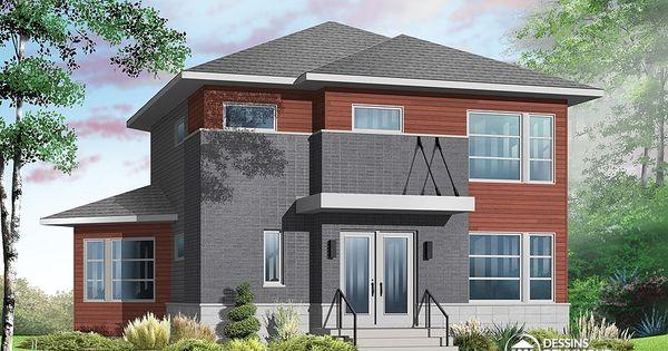 Plan de maison unifamiliale w3717 jolie maison - Plan de maison luxueuse ...