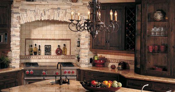 Eldorado stone manufactured stone veneer in the kitchen for Eldorado stone kitchen