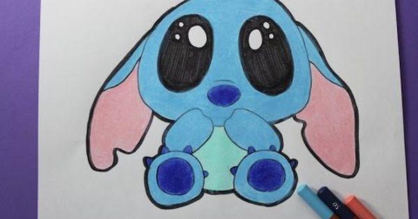 How To Draw Cute Baby Stitch Como Dibujar A Stitch Kawaii