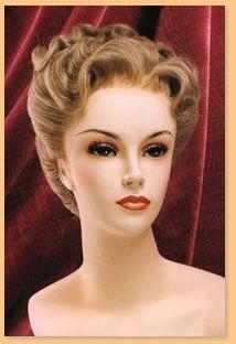 Period Wigs: 1940's Women's   Gibson girl