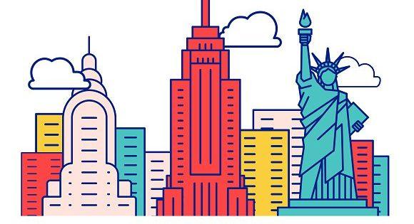 Iconic New York Buildings by GENERAL DESIGN LIQUIDATOR on @creativemarket
