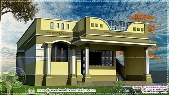 One Floor Tamilnadu House In 2019 House Design Pictures