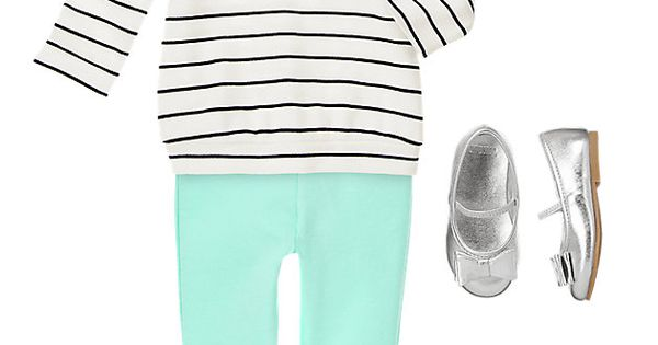 I love Gymboree. mint stripes