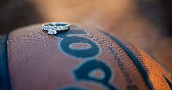 Love Basketball wedding jewelry Maybe a football instead