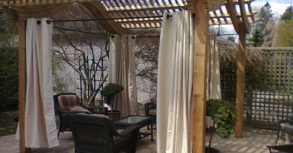 Classic Pergola with curtains. www.gormwood.com