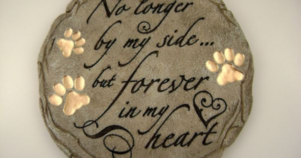 Melts your heart! A stepping stone to place in your garden in