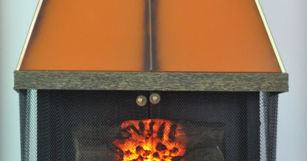 Mid Century Electric Fireplace Orange Retro 1970s by Aligras, $375.00 #vintage #etsy : Vintage ...