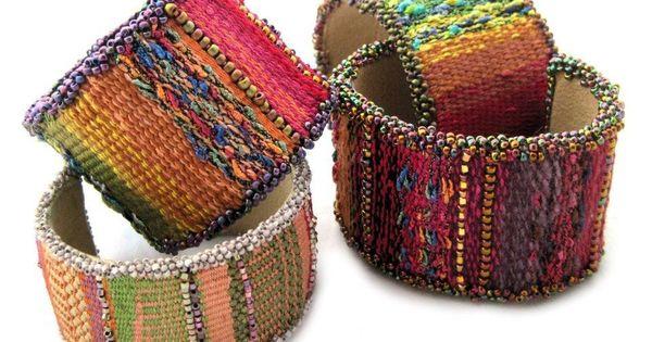 tapestry bead cuff bracelet