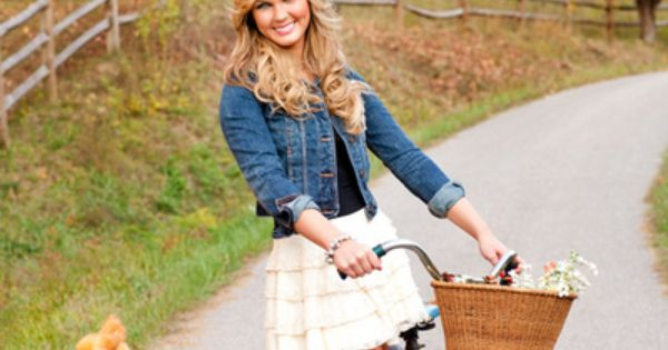 Vintage bike, country lane, chickens... remove the lady and replace her with