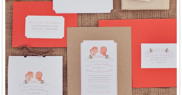 tangerine wedding suite - lovely!