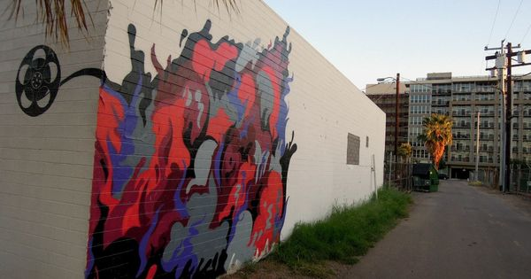 Noelle martinez at 3rd street mckinley phoenix murals for Calle 16 mural project