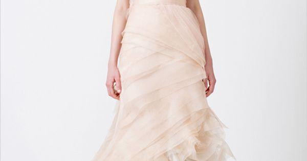 Vera Wang Pink Wedding Dress | Vera Wang Wedding Gowns + Weddingfavors.org