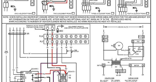 Goodman Condensing Unit Wiring Diagram In 2020 Thermostat Wiring Air Handler Goodman Heat Pump