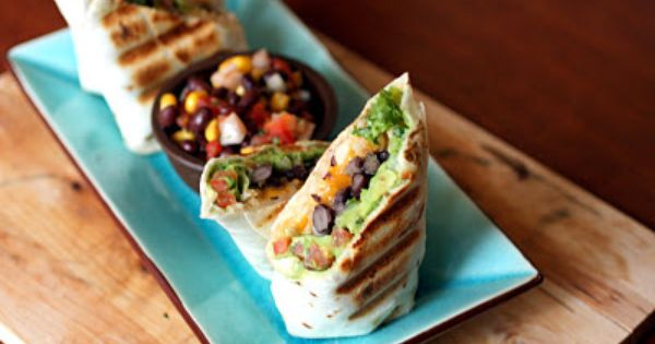 Black Bean Burritos Recipe. I would add grilled chicken to this and