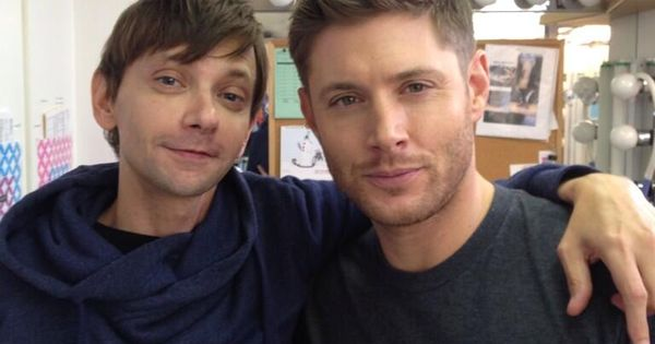 """This is how small my head is next to Jensen's. He's pretty,"