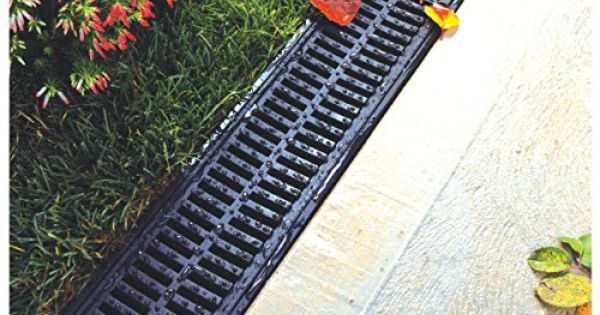 Polylok residential trench drain grate gray grate for Residential trench drain