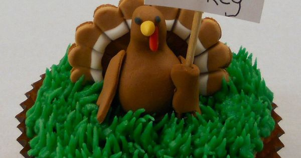 Eat Cake Not Turkey Cupcake Cute :)