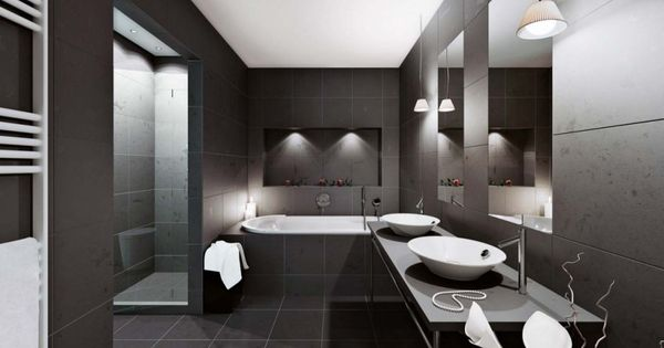 Apartments Black Color Theme Minimalist Style Home