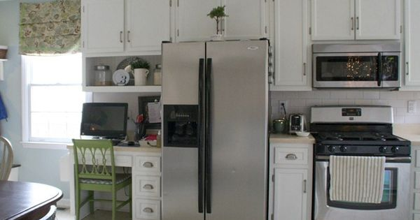 Before after kitchen pics makes me want to paint my - Builder grade oak kitchen cabinets ...