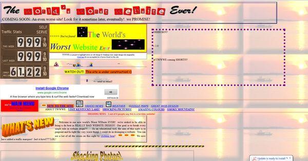 Worst Website Design Of 2013 Website Bad Website Builder Free