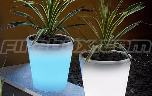 Glow in the dark flower pots!