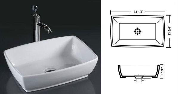 Deep white porcelain vessel sink master bath sinks for Master bathroom vessel sink