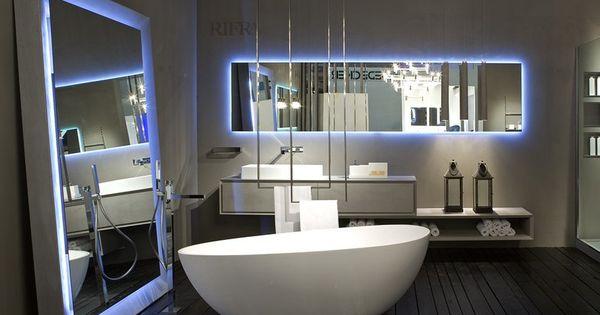Id es de miroir salle de bain lumineux de design italien for Miroir design italien