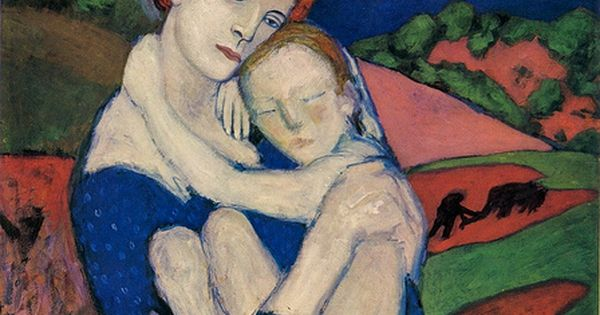 Mother and Child (1901) Pablo painting art painting| http://my-awesome-paitings.blogspot.com