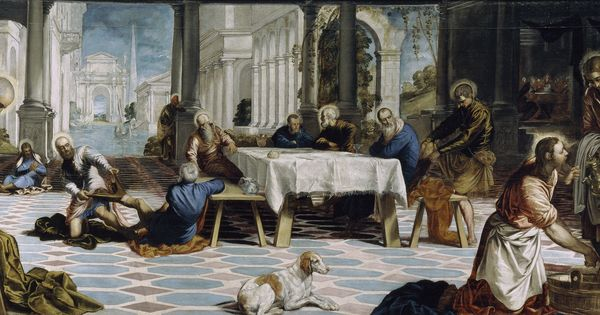 tintoretto last supper essay The last supper 1592-94 oil on canvas, 365 x 568 cm san giorgio maggiore, venice: the church of san giorgio maggiore was built on the san giorgio island between 1566 and 1600 using the design of palladio.